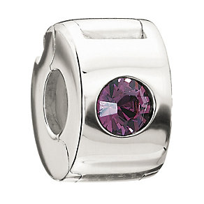 Chamilia Sterling Silver Amethyst Jewelled Lock - Product number 1765604