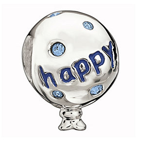 Chamilia Sterling Silver Blue Crystal Birthday Balloon Bead - Product number 1765639