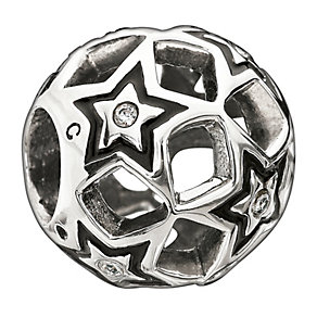 Chamilia Sterling Silver Crystal Shining Stars Bead - Product number 1765701