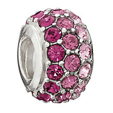 Chamilia Sterling Silver Pink Crystal Pure Brilliance Bead - Product number 1765752