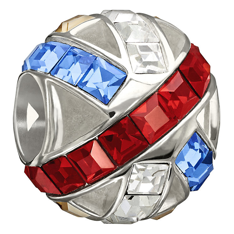 Chamilia Sterling Silver Union Jack Swarovski Crystal Bead - Product number 1765876
