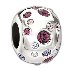Chamilia Sterling Silver Purple Crystal Metropolis Bead - Product number 1766066