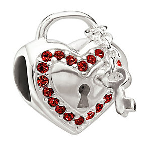 Chamilia Sterling Silver Red Crystal Love Bead - Product number 1766236
