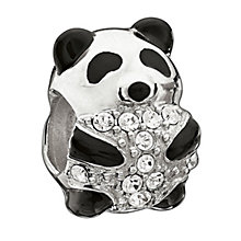 Chamilia Sterling Silver Crystal Bedazzled Panda Bead - Product number 1767259