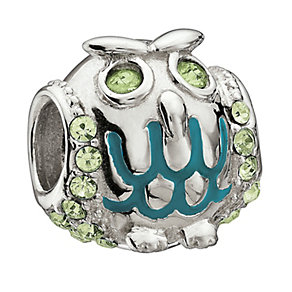 Chamilia Sterling Silver Crystal Glittering Owl Bead - Product number 1767291