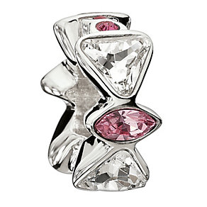 Chamilia Sterling Silver Pink Crystal Bow Tie Bead - Product number 1767313