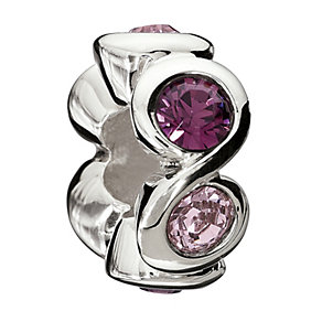 Chamilia Sterling Silver Purple Crystal Circles Bead - Product number 1767321