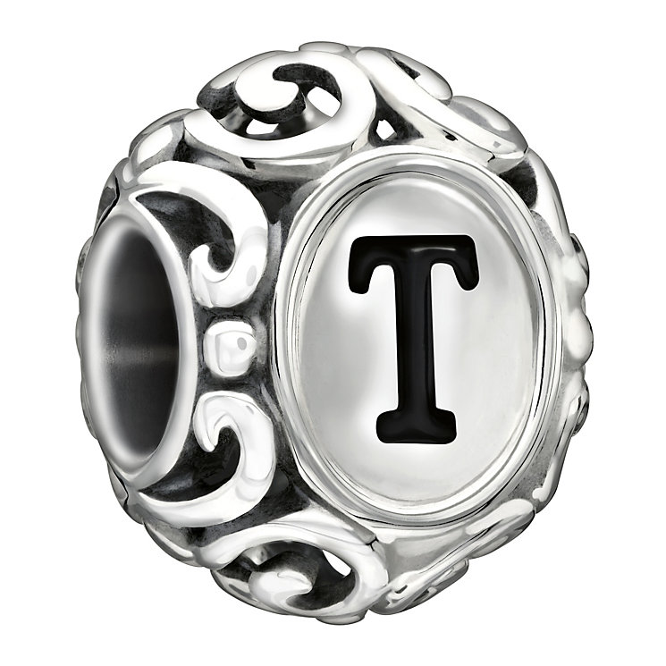 Chamilia Sterling Silver Letter T Bead - Product number 1767410