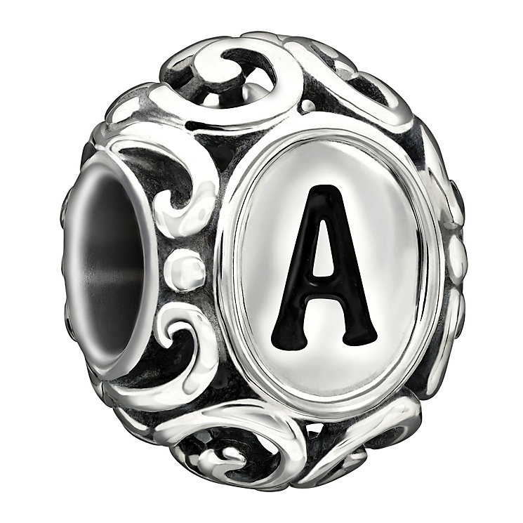 Chamilia Sterling Silver Letter A Bead - Product number 1767429