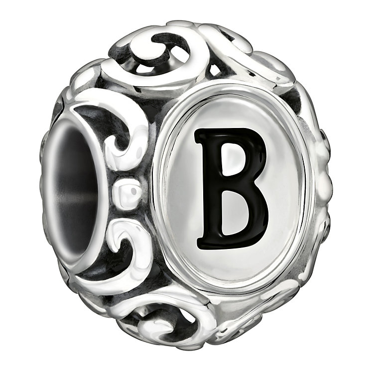 Chamilia Sterling Silver Letter B Bead - Product number 1767437