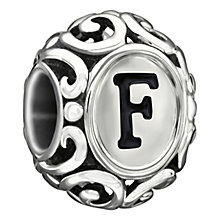 Chamilia Sterling Silver Letter F Bead - Product number 1767488