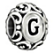 Chamilia Sterling Silver Letter G Bead - Product number 1767496