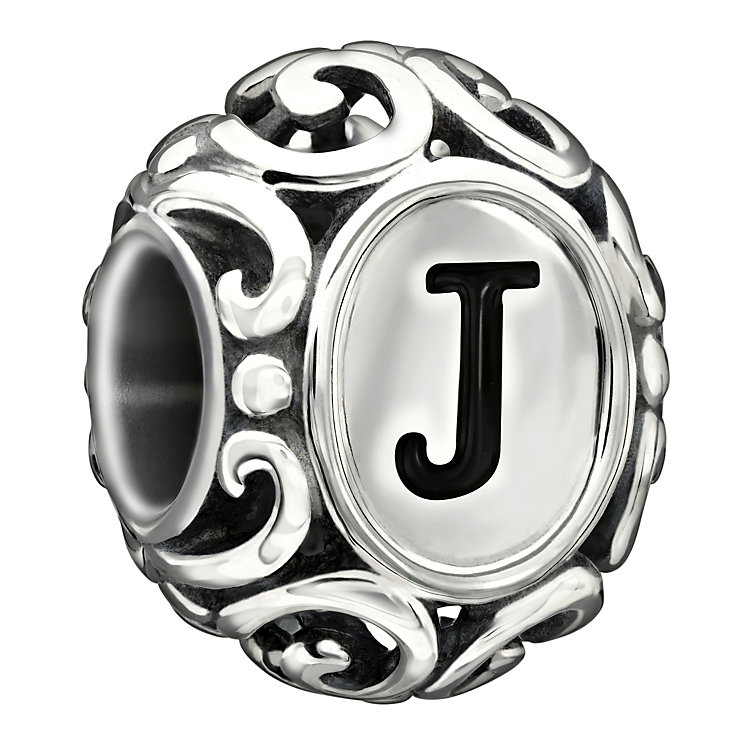Chamilia Sterling Silver Letter J Bead - Product number 1767534