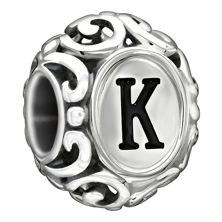 Chamilia Sterling Silver Letter K Bead - Product number 1767542