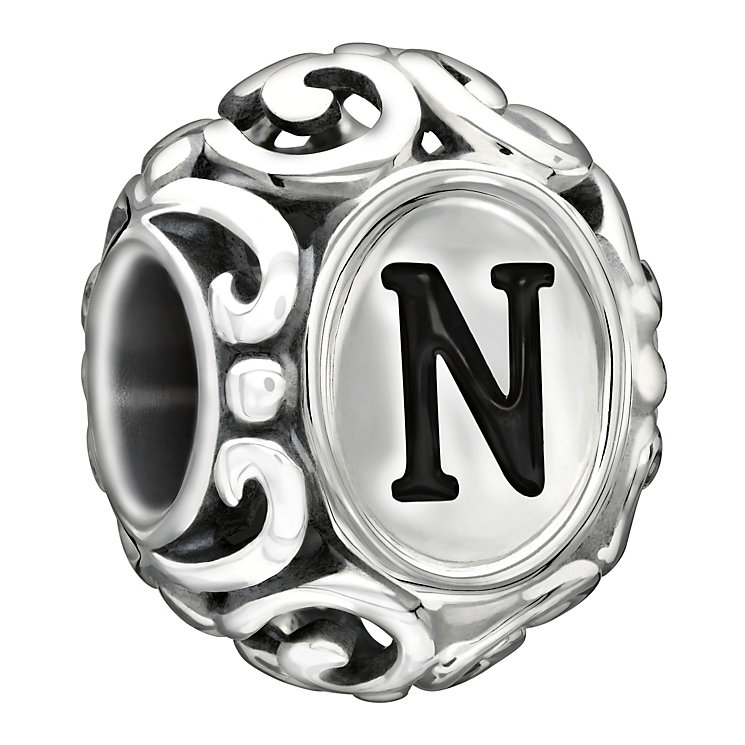 Chamilia Sterling Silver Letter N Bead - Product number 1767577