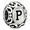 Chamilia Sterling Silver Letter P Bead - Product number 1767593