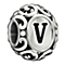 Chamilia Sterling Silver Letter V Bead - Product number 1767658