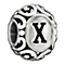 Chamilia Sterling Silver Letter X Bead - Product number 1767666