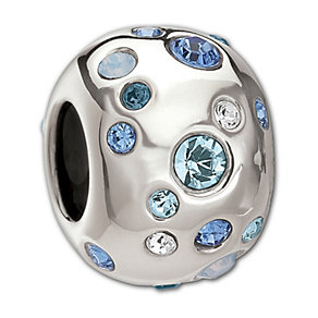 Chamilia Sterling Silver Blue Crystal Metropolis Bead - Product number 1767690