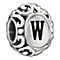 Chamilia Sterling Silver Letter W Bead - Product number 1767887
