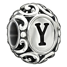 Chamilia Sterling Silver Letter Y Bead - Product number 1767895