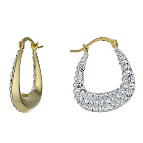 Silver Gold-Plated Swarovski Elements Creole Earrings - Product number 1767917