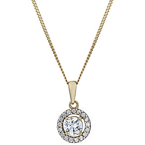 Lumiere 18ct Gold-Plated Swarovski Zirconia Elements Pendant - Product number 1768042