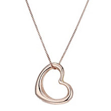 "9ct Rose Gold Heart 18"" Pendant - Product number 1769138"