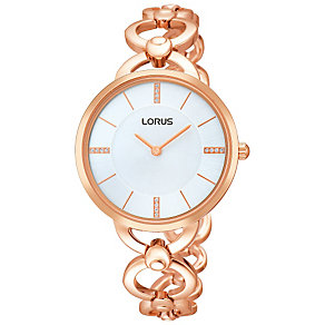 Lorus Ladies' Rose Gold-Plated Bracelet Watch - Product number 1769154