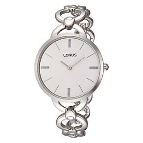 Lorus Ladies' Stone Set Stainless Steel Bracelet Watch - Product number 1769162