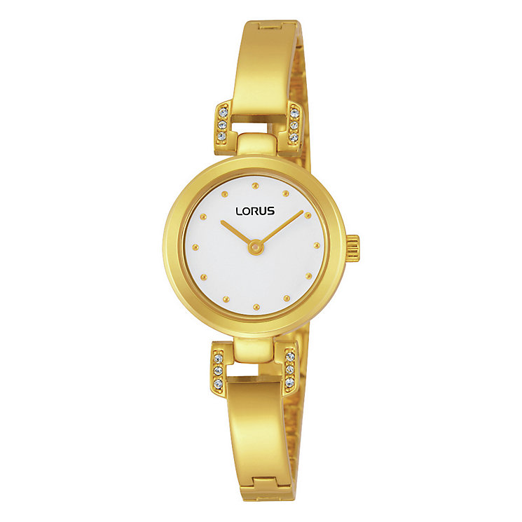 Lorus Ladies' Stone Set Gold-Plated Bracelet Watch - Product number 1769170