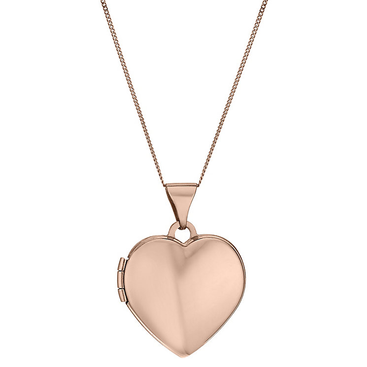 "9ct Rose Gold Heart 18"" Locket - Product number 1769243"