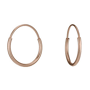 9ct Rose Gold Small Sleeper Earrings - Product number 1769367
