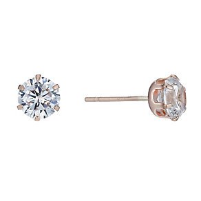 9ct Rose Gold Cubic Zirconia 5mm Stud Earrings - Product number 1769375