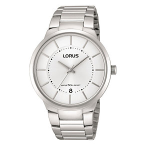 Lorus Men's White Dial Stainless Steel Bracelet Watch - Product number 1769464