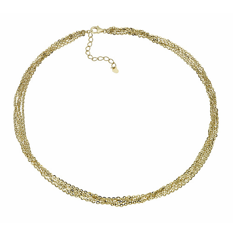 """Oxi Colour Sterling Silver Gold-Plated Chain 17.75"""" Necklace - Product number 1769707"""