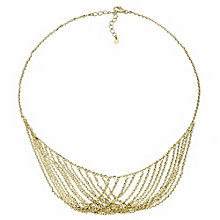 "Oxi Colour Sterling Silver Gold-Plated 17"" Hanging Necklace - Product number 1769715"