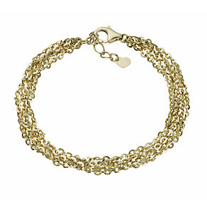 Oxi Colour Sterling Silver Gold-Plated Chain 7