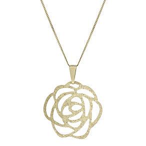 9ct Gold Filigree Rose 18
