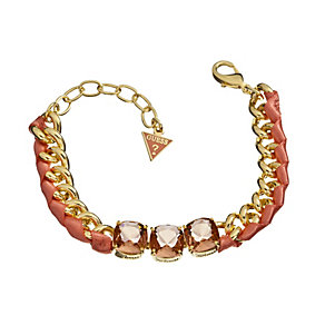 Guess Heatwave Gold-Plated Stone & Coral Ribbon Bracelet - Product number 1770977