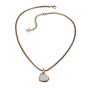Guess Desert Beauty Rose Gold-Plated Leather Heart Pendant - Product number 1771051