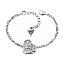 Guess Desert Beauty Rhodium-Plated Stone Set Heart Bracelet - Product number 1771078