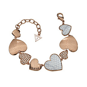 Guess Desert Beauty Drama Rose Gold-Plated Heart Bracelet - Product number 1771108