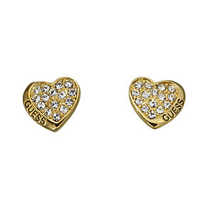 Guess Desert Beauty Gold-Plated Heart Stud Earrings - Product number 1771124