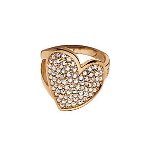 Guess Desert Beauty Rose Gold-Plated Stone Set Heart Ring - Product number 1771175