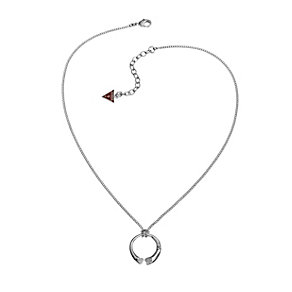 Guess Rings Of Love Rhodium-Plated Stone Set Ring Pendant - Product number 1771183