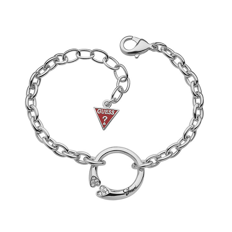 Guess Rings Of Love Rhodium-Plated Stone Set Ring Bracelet - Product number 1771213