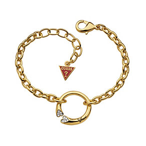 Guess Rings Of Love Gold-Plated Stone Set Ring Bracelet - Product number 1771221