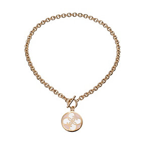 Guess Uptown Girl Rose Gold-Plated 4 G White Disc Pendant - Product number 1771310