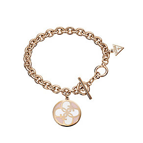Guess Uptown Girl Rose Gold-Plated 4 G White Disc Bracelet - Product number 1771345
